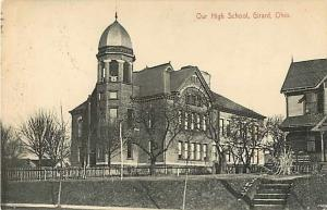 High School in Girard Ohio OH 1909 Divided Back