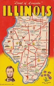 Map Of Illinois 1971