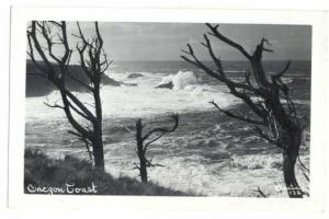RPPC, Pacific Ocean Scene on Oregon Coast, Christian # 132
