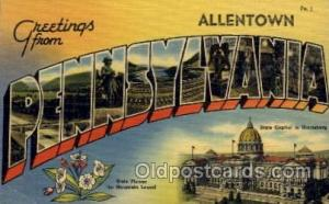Allentown, Pennsylvania Large Letter Town Towns Post Cards Postcards  Allento...