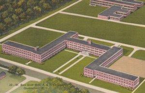 GREENSBORO , North Carolina , 1930-40s ; W. Kerr Scott Hall , A&T College