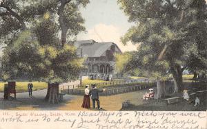 Salem Massachusetts~Salem Willows Park~Victorians on Path~Pavilion~1907 Postcard