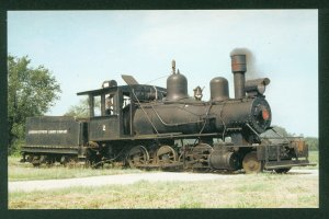 Louisiana Cypress Lumber Co Mogul No 2 Steam Engine Train Railroad Postcard