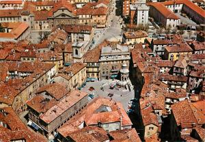 Acqui Terme Historical Center Italy Aerial View Postcard