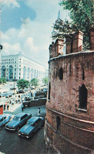 Marx Prospect and Department Store, Classic Cars, MOSCOW, Russia, 40-60's
