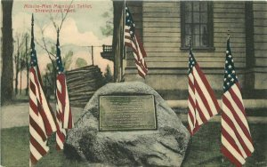 C-1910 Patriotic Flags Minute Memorial Shrewsbury Massacusetts Postcard 9358
