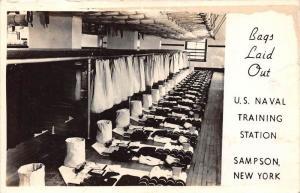 New York  Sampson  U.S. Navel Training Station Lockers for Inspection RPC