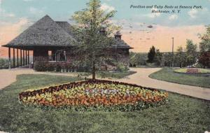 Pavilion and Tulip Beds - Seneca Park, Rochester, New York pm 1911