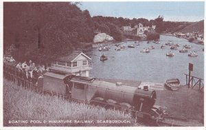 SCARBORUGH, England, PU-1955; Boating Pool & Miniature Railway