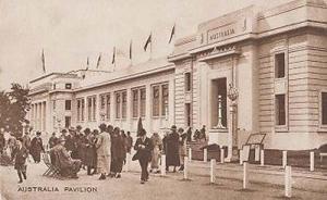 Australia Pavillion Antique Exhibition Gathering Postcard Mint