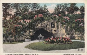 WASHINGTON D.C., 1900-1910s; Franciscan Monastery, The Grotto Of Lourdes