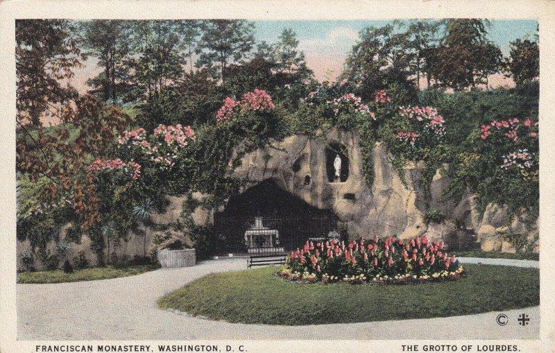 WASHINGTON D.C., 1900-1910s; Franciscan Monastery, The Grotto Of Lourdes