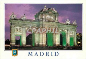 Postcard Modern Madrid Alcala Gate