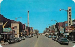 Autos Business Laramie Wyoming 2nd Street 1960s Postcard Sanborn Dexter 4726