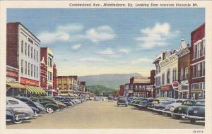 Kentucky Middlesboro Cumberland Avenue Looking East Toward Pinnacle Mountain ...