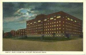 New St. Mary´s Hospital At Night, Rochester, MN, 10-20s
