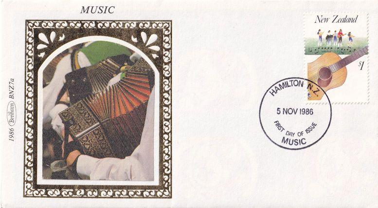 New Zealand Accordion Benham First Day Cover