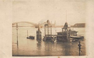 Germany Koeln flood high water real photo postcard