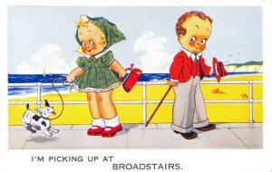 Vintage Comic Joke Postcard, I'm Picking up at Broadstairs, Kent DQ5