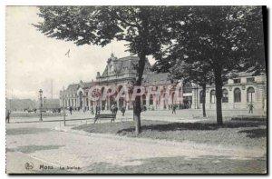 Old Postcard Mons Station