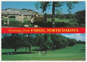 Greetings from Fargo ND, North Dakota - Trollwood Park - Edgewood Golf Course