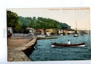 173900 TURKEY Constantinople quay Buyuk-Dere Vintage postcard