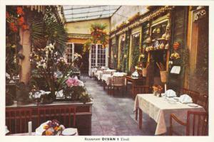 Interior, Restaurant DIVAN 1, Established 1843, Tivoli, Copenhagen, Denmark, ...