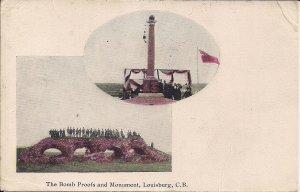 CANADA, Louisburg CB NS, Bomb Shelter Fort Monument, 1905 Postmark Cape Breton