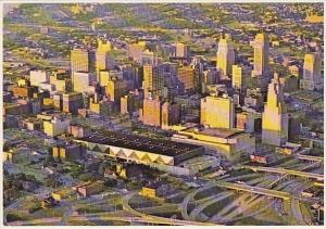 Downtown Kansas City Missouri And H Roe Bartle Convention Complex Kansas City...