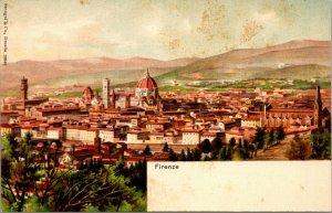 LOT OF 2 - Italy Firenze - VINTAGE postcard - COLOR - REGINA CASCINE