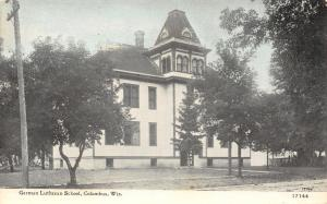 Columbus Wisconsin~German Lutheran School~CU Williams Photoette~1908 Postcard