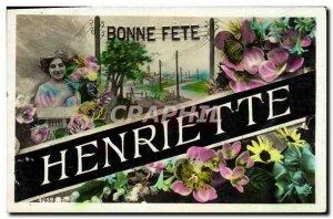 Postcard Old Henriette Surname