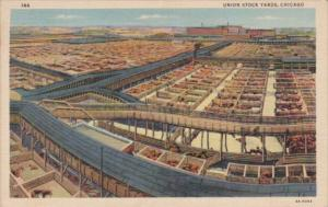 Illinois Chicago The Union Stock Yards 1938 Curteich