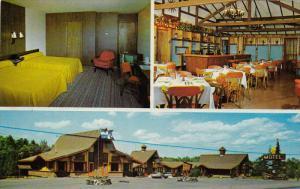 3-Views, Les Pins Motel, GRANBY, Quebec, Canada, 40-60s