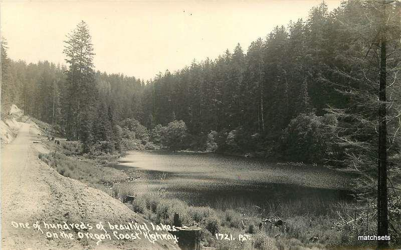 One of Hundreds Beautiful Lakes Oregon Coast Highway Patterson RPPC 12190