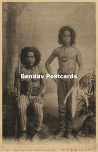 Caroline Islands, CHUUK State, Armed Native Men of Truk Islands (1910s)