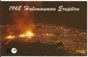 Vintage Postcard Halemaumau Eruption 1967 Kilauea Volcano Hawaiian Hawaii