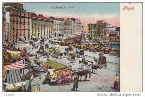 La Strada S. Lucia, NAPOLI (Campania), Italy, 1900-1910s
