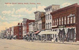 PONTIAC , Michigan , 00-10s ; Saginaw Street looking South