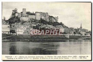 Old Postcard Chinon From Ruins & # 39Ancienne Fortress