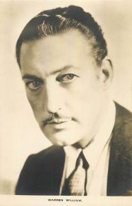 Actor Warren William photo postcard