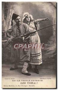 Old Postcard Army Triple Entente LEs Voila! Zouave