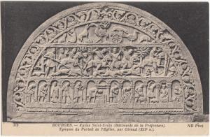 France, BOURGES, Eglise Saint-Ursin, Tympan du Portail de l'Eglise, Postcard