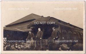 RPPC, President Taft Giving Speach from Train Platform