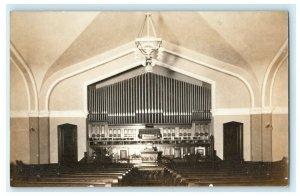 1910 Church Organ Interior Xenia Ohio OH Comment RPPC Photo Antique Postcard