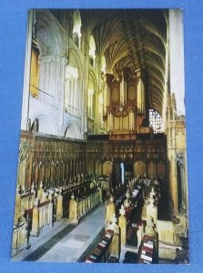 Vintage Postcard  Norwich Cathedral The Choir Looking West Norfolk B1D