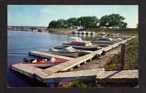 SD View YANKTON Boat Basin SOUTH DAKOTA PC Postcard