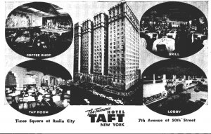 New York City Hotel Taft On Times Square Coffee Shop The Grill The Tap Room &...