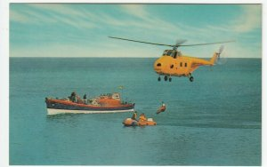 Shipping; RNLI Air/Sea Rescue PPC, Unposted, c 1960's, Note Westland Wessex 2