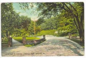 Entrance to Mineral Springs Park, Reading, Pennsylvania, 00-10s